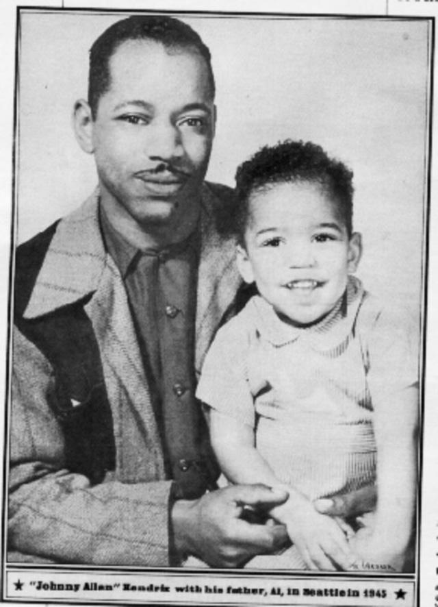 17. Jimi Hendrix and dad