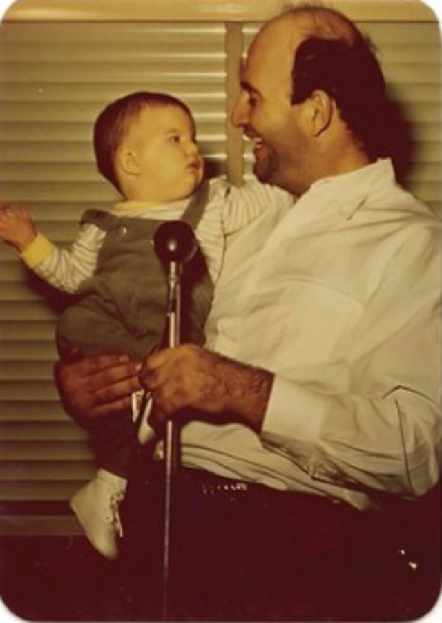9. Joey Ramone with his father