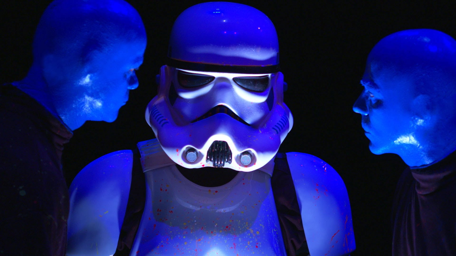 Meet The Blue Man Group's Latest Drummer...A Storm Trooper ...