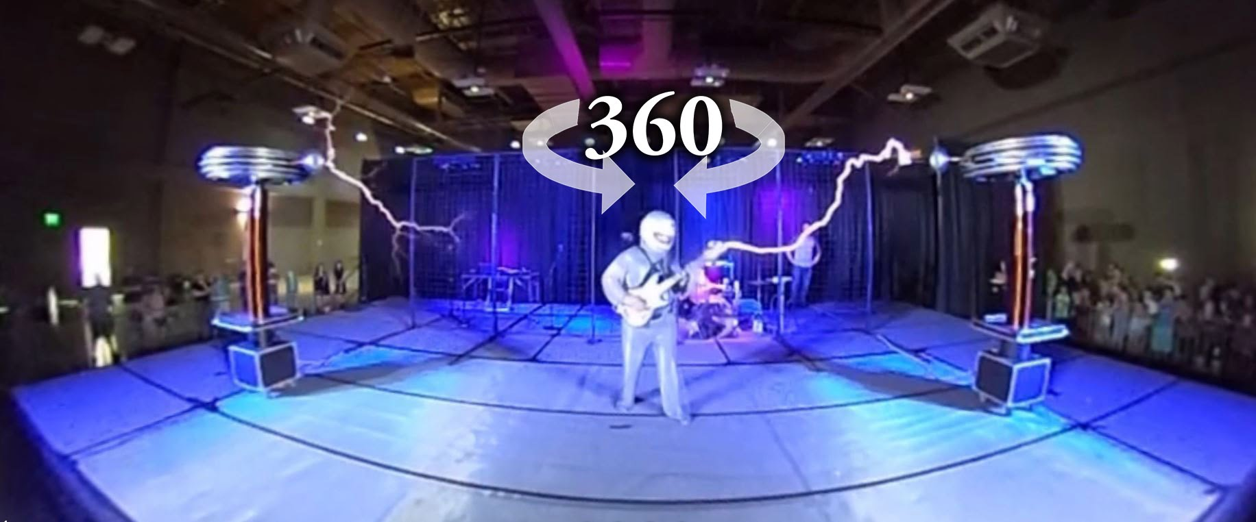 360 Degree Video of ArcAttack Turning Electricity Into Music Using