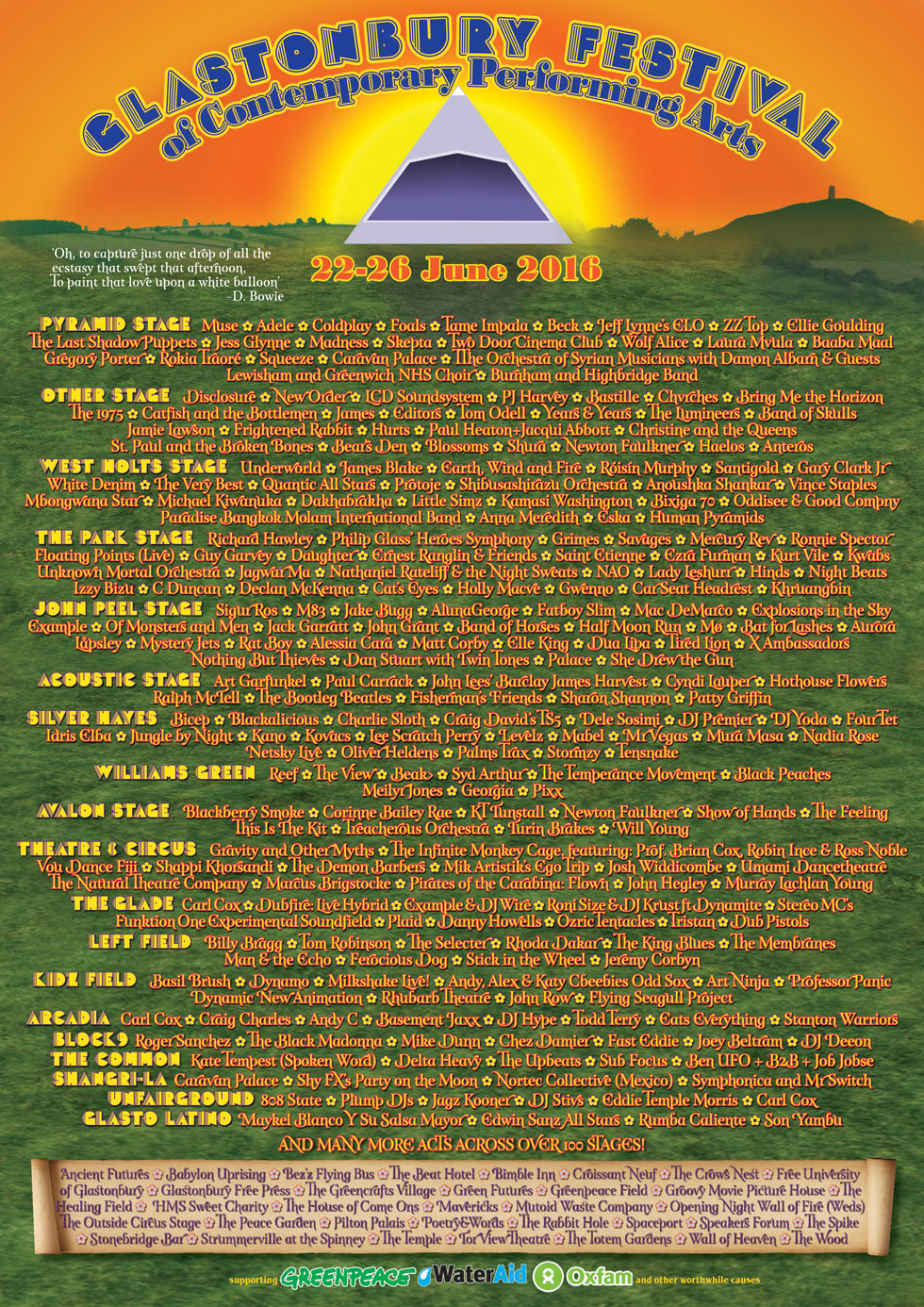 Here's the full Glastonbury lineup  I can only imagine handling