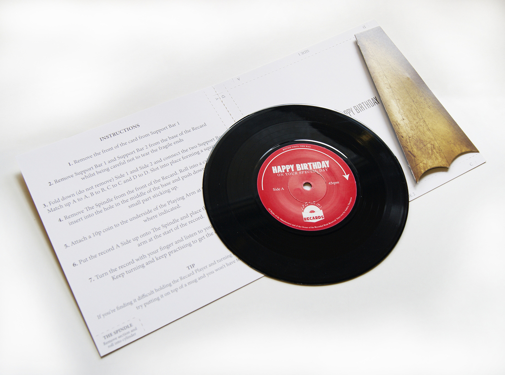 This Greeting Card Turns Into A Record Player - That Eric