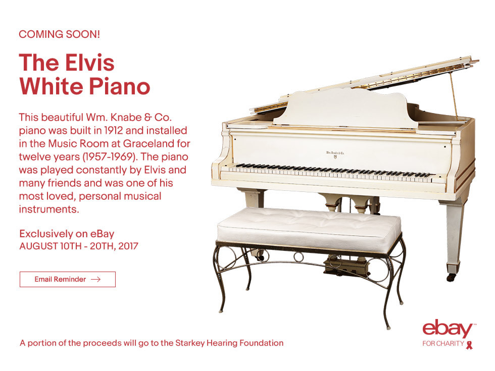 Elvis Presley S Beloved White Grand Piano Goes Up For Auction That Eric Alper