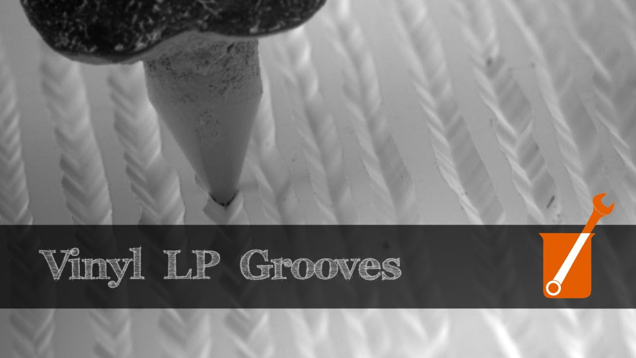 Electron Microscope Slow Motion Video Of Vinyl Lp That